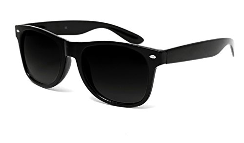 TheWhoop UV Protected Jet Black Premium Wayfarer Unisex Sunglasses