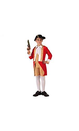 Mela Proibita - Kostüm Aristokrat Französisch Kind kolonial mehrfarbig Allgemeine Aufführung - rot, 3/4 Jahre
