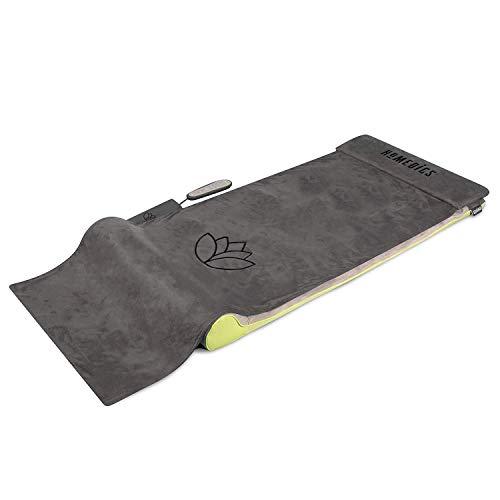 HoMedics Stretching Mat, Ispirato allo Yoga, 7 camere d\'aria di precisione emulano massaggio thailandese, 6 programmi per allungare la schiena, 3 intensità regolabili - Nero