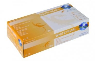 NITRIL White Pearl Handschuhe, Disp. box a 100 Handschuhe extra small / XS