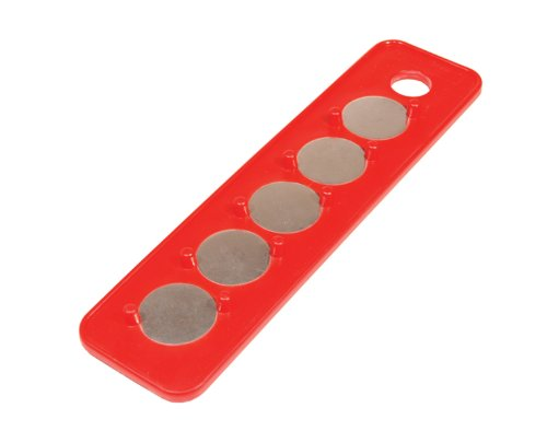 MagClip Triton Produkte 72401 magnetischen Sockel Halter Strip 1/4-Zoll Antrieb 2-1/4-Zoll von 9Zoll, Rot -