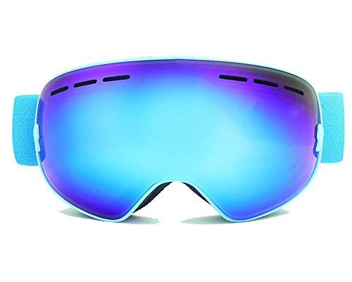 Daesar Gafas Ciclismo Noche Gafas de Esqui Gafas Protectoras Vieto Gafas de Trabajo Hombre Azul+Caja de EVA+Abrillantador
