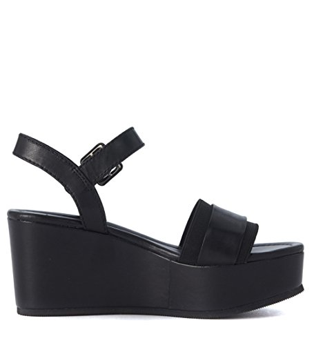 Sandalo Windsor Smith Joni in pelle nera Nero