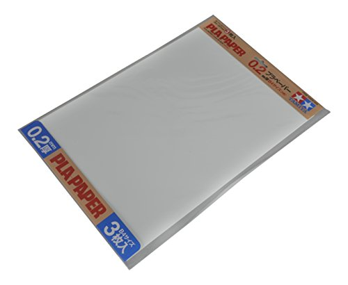 Tamiya 70209 - Plástico Placa de 0.2 mm, 3 Unidades, 257 x 364 mm, Color Blanco
