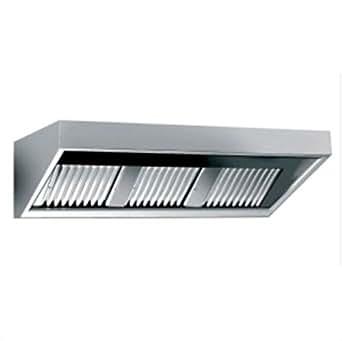 Dunstabzugshaube mit Beleuchtung (B1200 x T700 x H450 mm) mit Motor Wandhaube Edelstahl Abzugshaube Kastenhaube Gastro Gastronomie