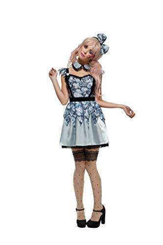 Smiffy's 44543S - Fever kaputte Puppe Annie Kostümes Kleid Befestigt Underskirt Kragen und Bow - Doll Kleid Kostüm
