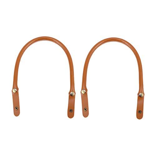 SUPVOX Taschengriff Leder Ersatz Taschenbügel Taschenhenkel Taschenzubehör 2 Stück (Braun) -