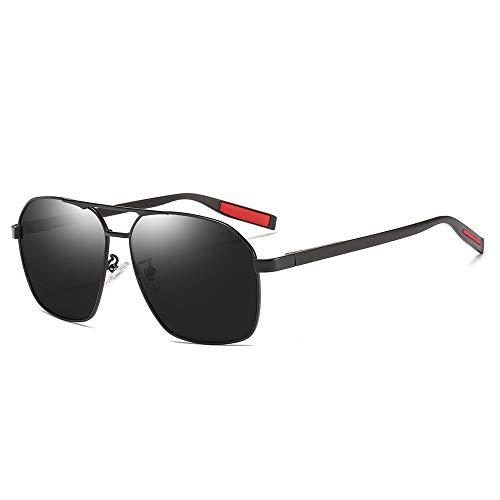 WULE-Sunglasses Unisex UV-Schutz Outdoor Sports Travel Seaside Sonnenbrillen Ultra Light Frame Herren/Damen Polarisierte Sonnenbrillen (Farbe : Black)
