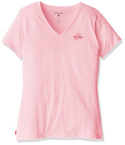 Antigua NCAA Oklahoma State Cowboys Dream V-Neck Tee Damen, Damen, Mid Pink - Cowboy Damen V-neck T-shirt