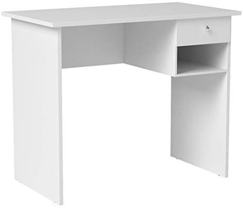 COMIFORT Schreibtisch - Robuster Praktischer Schreibtisch in Modernem und Minimalistischem Stil, Viel Stauraum, 1 Schublade und 1 Fach, Farbe: Sonomaeiche