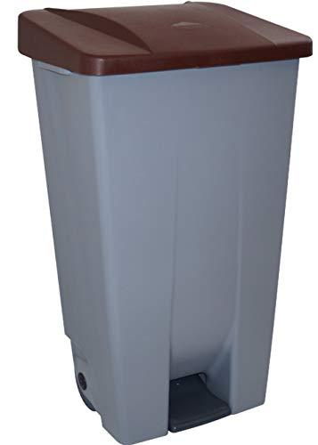 Denox 23400.839 - Contenedor selectivo, 120 L, marrón, PEAD, único