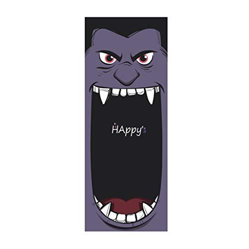 Mitlfuny Halloween coustems Kürbis Hexe Cosplay Gast Ghost Schicke Party Halloween deko,Außenhandel Neue Halloween kreative lustige Tür Aufkleber Glas Fenster Aufkleber
