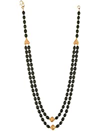 Ganapathy Gems Beads Jewellery Black Shell Pearl Multi-Strand Necklace For Women (12550)