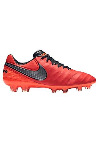 Nike Tiempo Legend Vi Fg, Chaussures de Foot Homme, Gris, UK Multicolore - Naranja / Plateado / Rojo (Lt Crmsn / Mtllc Slvr-Ttl Crmsn)