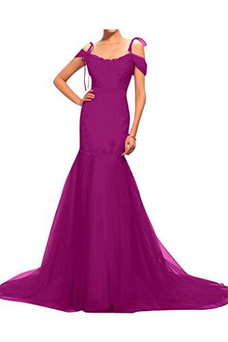Gorgeous Bride Fashion Traeger Meerjungfrau Lang Satin Tuell Sapitze ...