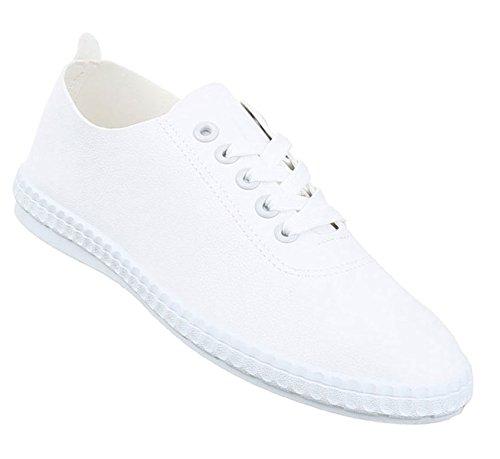 Damen Freizeitschuhe Schuhe Sneakers Sportschuhe Turnschuhe Sportschuhe Weiß