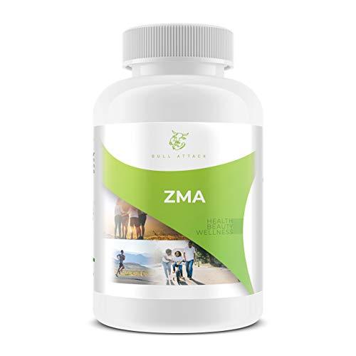Bull Attack ZMA, 240 Tabletten Zink + Magnesium + Vitamin B6, Unterstützung der Muskelfunktion, Premium Qualität hergestellt in Deutschland