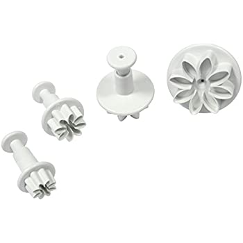 PME Daisy Marguerite Plunger Cutters, Mini, Small, Medium and Large Sizes, Set of 4