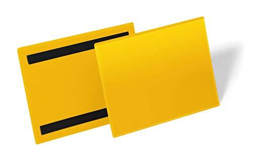 Durable 174304 Magnetische Kennzeichnungstasche A5 quer, Packung à 50 Stück, Gelb