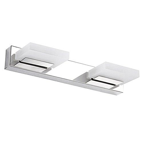Dailyart 6W Ángulo espejo ajustable LED Luz 360 ° de acrílico y acero inoxidable. Luz de la lámpara de pared LED en la lámpara de baño cuarto de baño (blanco cálido) [Clase de eficiencia energética A+]