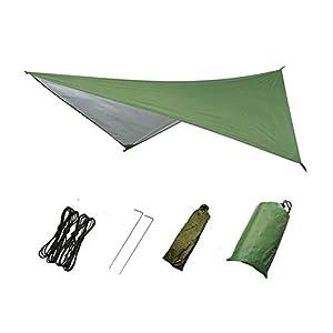 Tiyuu Hängematte Regen Fliegen Zeltplane Wasserdicht Winddicht Camping Shelter Sonnenschirm