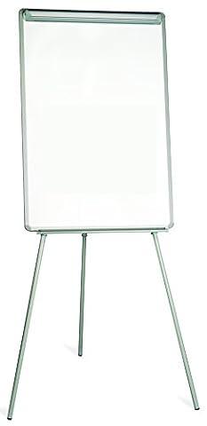 Bi-Office Chevalet de Conférence Trépied Basic, Non-Magnétique, Gris, Paperboard avec