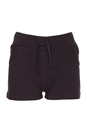 Womens Casual Summer Holiday Cotton Shorts (Black, 12)