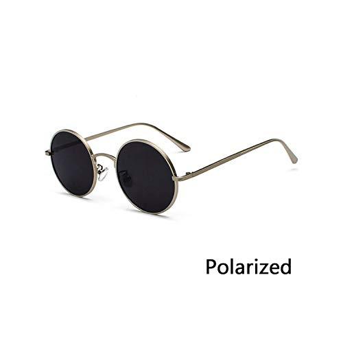 Sport-Sonnenbrillen, Vintage Sonnenbrillen, Retro Punk Style Männer Sunglasses WoMänner Vintage Round Metal Frame Colorful Lens Sun Glasses Fashion Eyewear Gafas Sol UV400 P03 Silver Grey