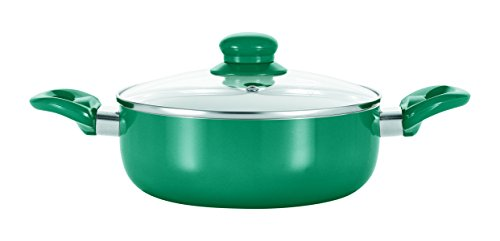 GOURMETmaxx 09715 Non-Stick Saucepan | Cookware | Low-Carb / No-Oil Cooking | Double Ceramic Coating | Heat Storage | 20 cm | Emerald