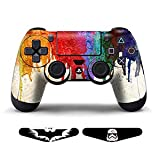 Skins for PS4 Games Playstation 4 Stickers Custom Controllers Decals Dualshock 4 Controller Skins Protective PS4 Accessories Vinyl Stickers for Sony PS4 Wireless Remote Play Controller Decal Paints + 2 Light Bar