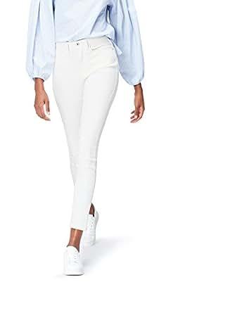 FIND Stone Wash Jeans Donna, Bianco (White), W36/L32 (Taglia Produttore: XX-Large)
