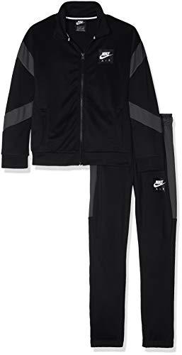 Nike Jungen Air Trainingsanzug, Black/Anthracite/White, M Fleece Track Jacke Kinder