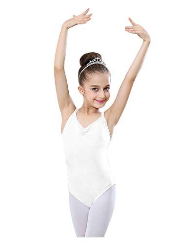 dchen Ballett Ausbildung Kostüm Ärmellos Tops Basic Camisole Tanz Trikot Bodysuit Gymnastik Trikots mit Spaghetti Riemen ()