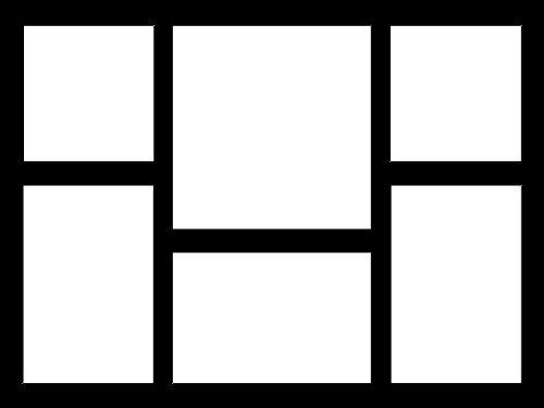 Mehrfach-Passepartout mit 6 Ausschnitten 2x 10x10 - 1x 15x15 quadratisch - 2x 10x15 rechteckig...