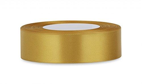 25Yards/23Meter Satinband 20mm in mehreren Farben Satinband Binden Geschenkband Hochzeit Borte Crafts Schürze Deco. viele Farben kaufen jeder 3Farben & Get 1Gratis, gold, 20 mm (Schürze Rote Mit Gold)