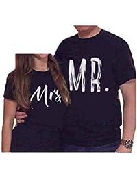 es Y Amazon Mrs Blusas Ropa amp; Mr Camisetas Mujer Tops dxYwYBgq