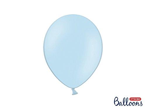 Balloons Strong 50 pezzi PALLONCINO LATTICE 27 CM CELESTE CIELO BABY PASTELLO