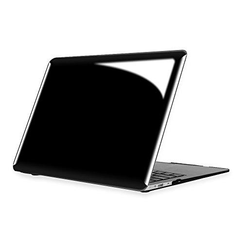 Fintie Coque MacBook Air 13 - Haute Qualité Plastique Transparent Dur étui Housse pour Apple MacBook Air 13.3 Pouces (A1466 / A1369) , Noir de jais