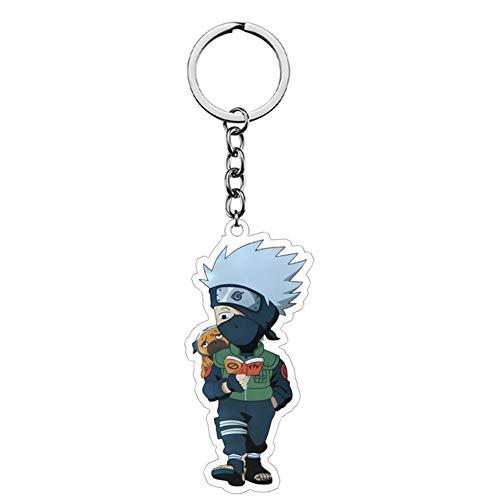 SGOT Anime Naruto Schlüsselanhänger, Kakashi Keychains, Acryl Schlüsselbund, Dekoration für Anime Lovers ca. 6,5cm(H05)