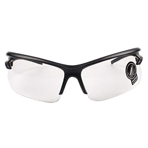 Fahrer Sonnenbrille Mode Damen Herren Polarisiert Brille UV-Schutz Spiegel Metall Rahme Gläser Outdoor Verspiegelt PPangUDing Retro Punk Vintage Design Classic Original (Eine Größe, klar)