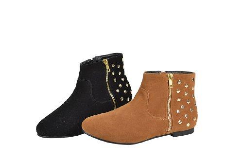 "Waooh - Chaussure - Bottine avec clous ""Adelyne"" Marron"