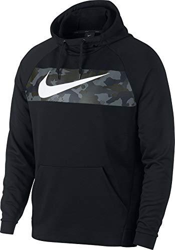 Nike Herren Fleece Training Hoodie Black/White, L Camouflage-fleece-pullover