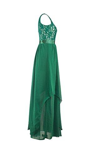 Couleur unie sans manches robe Vintage robe Maxi de femmes DeepBlue