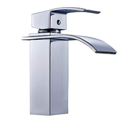 Auralum - Moderne Wasserfallarmatur für Waschbecken, Chrom