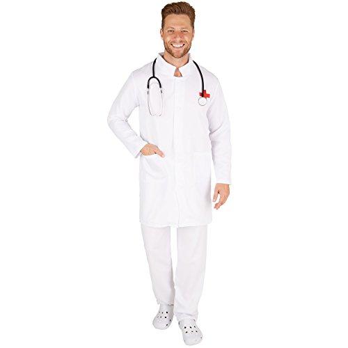 stüm Doktor | Knielanger Mantel | Strapazierfähige Hose (L | Nr. 301446) (Arzt Halloween Kostüm Für Frauen)