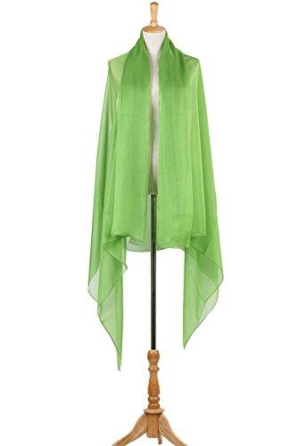 PB-SOAR XXL Damen Einfarbig Unifarben Sarong Pareo Strandtuch Wickelrock Wickeltuch, weich und leicht Neon Grün