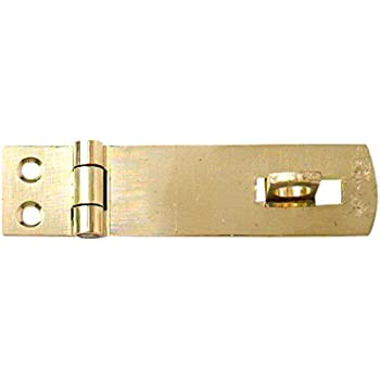 100MM 4  INCH BRASS HASP AND STAPLE WITH SCREWS