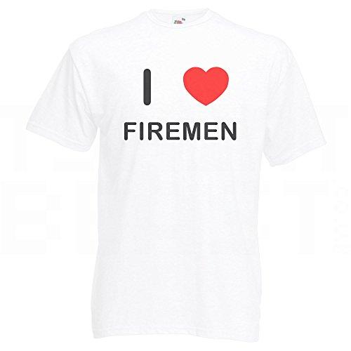 I Love Firemen - T-Shirt Weiß