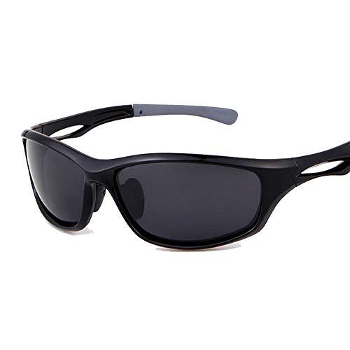 Wangwen Kids Sports Style Polarized Sonnenbrille Rubber Flexible Frame Für Jungen Und Mädchen (Color : Bright Black ash)