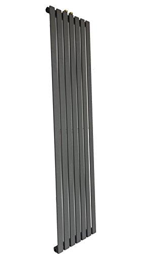 Boston Badheizkörper Heizkörper Handtuchwärmer Designheizkörper Badezimmer Heizung (41x180 cm, Anthrazit)